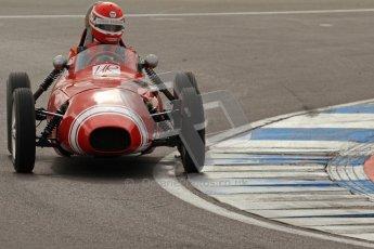 © Octane Photographic Ltd. HSCC Donington Park 17th March 2012. Historic Formula Junior Championship (Front engine). Crispian Besley - Elva 100. Digital ref : 0241lw7d5759