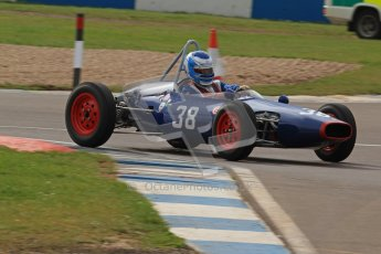 © Octane Photographic Ltd. HSCC Donington Park 17th March 2012. Historic Formula Junior Championship (Front engine). Wyn Lewis - Kieft FJ. Digital ref : 0241lw7d5791
