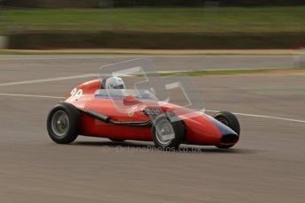 © Octane Photographic Ltd. HSCC Donington Park 17th March 2012. Historic Formula Junior Championship (Front engine). Pat Barford - Stanguellini. Digital ref : 0241lw7d5900