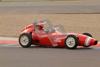 © Octane Photographic Ltd. HSCC Donington Park 17th March 2012. Historic Formula Junior Championship (Front engine). Crispian Besley - Elva 100. Digital ref : 0241lw7d5947