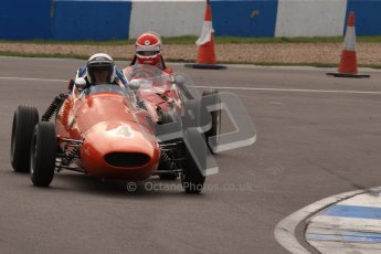© Octane Photographic Ltd. HSCC Donington Park 17th March 2012. Historic Formula Junior Championship (Front engine). Derek Walker - Terrier Mk IV. Digital ref : 0241lw7d6007