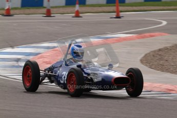 © Octane Photographic Ltd. HSCC Donington Park 17th March 2012. Historic Formula Junior Championship (Front engine). Wyn Lewis - Kieft FJ. Digital ref : 0241lw7d6038