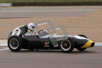 © Octane Photographic Ltd. HSCC Donington Park 17th March 2012. Historic Formula Junior Championship (Front engine). Jack Woodhouse - Elva 100. Digital ref : 0241lw7d6072