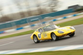 © Octane Photographic Ltd. HSCC Donington Park 17th March 2012. Historic Road Sports Championship. Bill Smith - Marcos 1600GT. Digital ref : 0242cb1d7331
