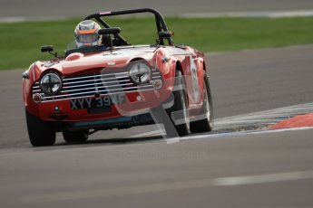 © Octane Photographic Ltd. HSCC Donington Park 17th March 2012. Historic Road Sports Championship. Colin Sharp - Triumph TR5. Digital ref : 0242cb7d4250
