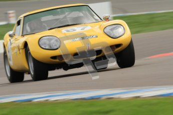 © Octane Photographic Ltd. HSCC Donington Park 17th March 2012. Historic Road Sports Championship. Bill Smith - Marcos 1600GT. Digital ref : 0242cb7d4396