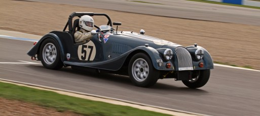 © Octane Photographic Ltd. HSCC Donington Park 17th March 2012. Historic Road Sports Championship. Roddie Feilden - Morgan Plus 8. Digital ref : 0242lw7d6364