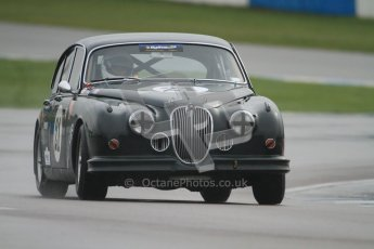 © Octane Photographic Ltd. HSCC Donington Park 18th March 2012. Historic Touring car Championship (over 1600cc). Graeme Dodd - Jaguar Mkii. Digital ref : 0249cb7d6037