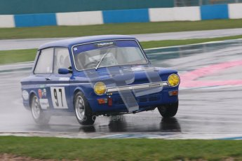 © Octane Photographic Ltd. HSCC Donington Park 18th May 2012. Historic Touring car Championship (up to 1600cc). David Heale - Hillman Imp. Digital ref : 0246cb1d7994