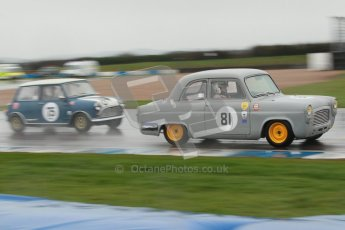 © Octane Photographic Ltd. HSCC Donington Park 18th May 2012. Historic Touring car Championship (up to 1600cc). Ed Glaister - Ford Anglia 100E. Digital ref : 0246cb1d8008