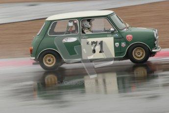© Octane Photographic Ltd. HSCC Donington Park 18th May 2012. Historic Touring car Championship (up to 1600cc). Marc Earnshaw - Austin Mini Cooper S. Digital ref : 0246cb1d8031