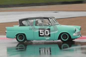 © Octane Photographic Ltd. HSCC Donington Park 18th May 2012. Historic Touring car Championship (up to 1600cc). Steve Read - Ford Anglia105E. Digital ref : 0246cb1d8037