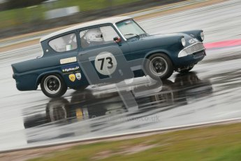 © Octane Photographic Ltd. HSCC Donington Park 18th May 2012. Historic Touring car Championship (up to 1600cc). Robyn Slater - Ford Anglia. Digital ref : 0246cb1d8060