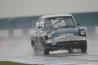 © Octane Photographic Ltd. HSCC Donington Park 18th May 2012. Historic Touring car Championship (up to 1600cc). Robyn Slater - Ford Anglia. Digital ref : 0246cb7d5419