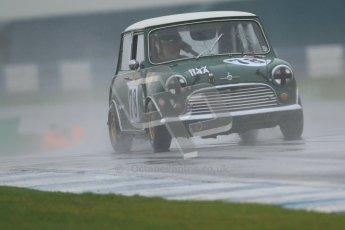 © Octane Photographic Ltd. HSCC Donington Park 18th May 2012. Historic Touring car Championship (up to 1600cc). Colin Flynn - Morris Mini Cooper S. Digital ref : 0246cb7d5422