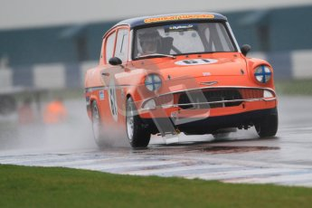 © Octane Photographic Ltd. HSCC Donington Park 18th May 2012. Historic Touring car Championship (up to 1600cc). Brian Webb - Ford Anglia 105E. Digital ref : 0246cb7d5432