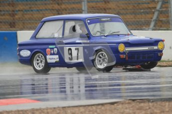 © Octane Photographic Ltd. HSCC Donington Park 18th May 2012. Historic Touring car Championship (up to 1600cc). David Heale - Hillman Imp. Digital ref : 0246cb7d5456