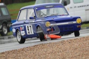 © Octane Photographic Ltd. HSCC Donington Park 18th May 2012. Historic Touring car Championship (up to 1600cc). David Heale - Hillman Imp. Digital ref : 0246cb7d5469