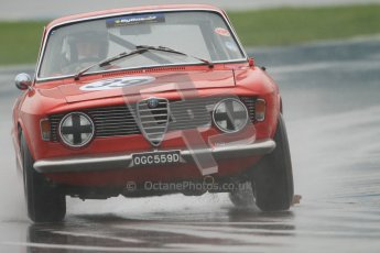 © Octane Photographic Ltd. HSCC Donington Park 18th May 2012. Historic Touring car Championship (up to 1600cc). Paul Hopkinson - Alfa Romeo Giulia Sprint GT. Digital ref : 0246cb7d5487