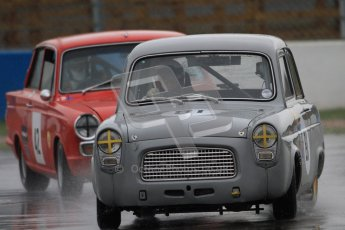 © Octane Photographic Ltd. HSCC Donington Park 18th May 2012. Historic Touring car Championship (up to 1600cc). Ed Glaister - Ford Anglia 100E. Digital ref : 0246cb7d5560