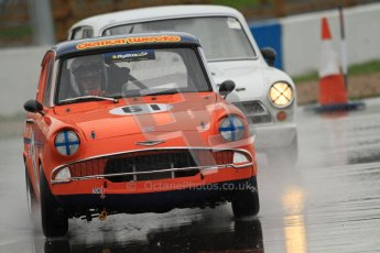 © Octane Photographic Ltd. HSCC Donington Park 18th May 2012. Historic Touring car Championship (up to 1600cc). Brian Webb - Ford Anglia 105E. Digital ref : 0246cb7d5563