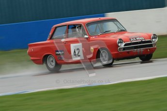 © Octane Photographic Ltd. HSCC Donington Park 18th May 2012. Historic Touring car Championship (up to 1600cc). Robert Rook - Ford Cortina. Digital ref : 0246cb7d5621