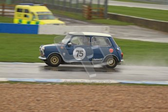 © Octane Photographic Ltd. HSCC Donington Park 18th May 2012. Historic Touring car Championship (up to 1600cc). Tim Harber - Austin Mini. Digital ref : 0246lw7d8552