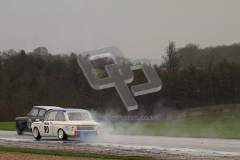 © Octane Photographic Ltd. HSCC Donington Park 18th May 2012. Historic Touring car Championship (up to 1600cc). Jon Orr - Hillman Imp. Digital ref : 0246lw7d8557
