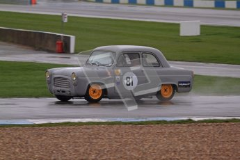 © Octane Photographic Ltd. HSCC Donington Park 18th May 2012. Historic Touring car Championship (up to 1600cc). Ed Glaister - Ford Anglia 100E. Digital ref : 0246lw7d8617