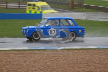 © Octane Photographic Ltd. HSCC Donington Park 18th May 2012. Historic Touring car Championship (up to 1600cc). Simon Benoys - Hillman Imp. Digital ref : 0246lw7d8760