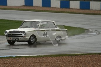 © Octane Photographic Ltd. HSCC Donington Park 18th May 2012. Historic Touring car Championship (up to 1600cc). Tim Davis - Ford Cortina. Digital ref : 0246lw7d8792