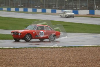 © Octane Photographic Ltd. HSCC Donington Park 18th May 2012. Historic Touring car Championship (up to 1600cc). Dave Cabena - Alfa Romeo Giulia Sprint. Digital ref : 0246lw7d8802