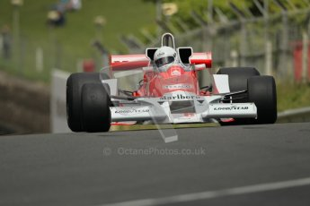 © 2012 Octane Photographic Ltd. HSCC Historic Super Prix - Brands Hatch - 30th June 2012. HSCC Derek Bell Trophy - Qualifying. McLaren M26, Historic F1. Digital Ref : 0376lw1d0019