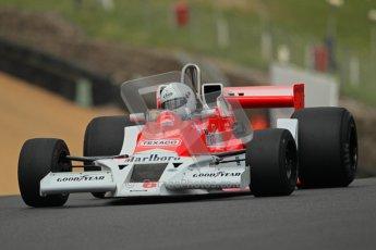© 2012 Octane Photographic Ltd. HSCC Historic Super Prix - Brands Hatch - 30th June 2012. HSCC Derek Bell Trophy - Qualifying. McLaren M26, Historic F1. Digital Ref : 0376lw1d9922