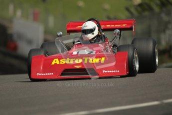 © 2012 Octane Photographic Ltd. HSCC Historic Super Prix - Brands Hatch - 30th June 2012. HSCC Grandstand Motor Sport Historic Formula 2 - Qualifying. Mike Bletsoe-Brown - Chevron B27. Digital Ref: 0377lw1d9010