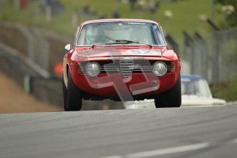 © 2012 Octane Photographic Ltd. HSCC Historic Super Prix - Brands Hatch - 1st July 2012. HSCC - Historic Touring Cars - Qualifying. Dave Cabena - Alfa Romeo Giulia Sprint. Digital Ref: 0384lw1d1164
