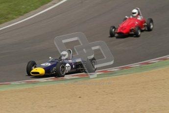 © 2012 Octane Photographic Ltd. HSCC Historic Super Prix - Brands Hatch - 30th June 2012. HSCC - Lurani Trophy - Qualifying. David Methley - Brabham BT6 and Ash Waller - PM Poggi. Digital Ref: 0382lw7d4641