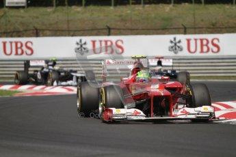 © 2012 Octane Photographic Ltd. Hungarian GP Hungaroring - Sunday 29th July 2012 - F1 Race. Ferrari F2012 - Felipe Massa and Williams FW34 - Pastor Maldonado and Bruno Senna. Digital Ref :