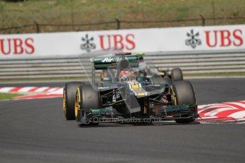 © 2012 Octane Photographic Ltd. Hungarian GP Hungaroring - Sunday 29th July 2012 - F1 Race. Caterham CT01 - Heikki Kovalainen and Vitaly Petrov. Digital Ref :