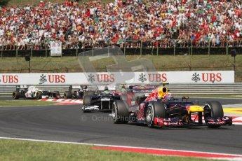 © 2012 Octane Photographic Ltd. Hungarian GP Hungaroring - Sunday 29th July 2012 - F1 Race. Red Bull RB8 - Mark Webber and Williams FW34 - Bruno Senna. Digital Ref :