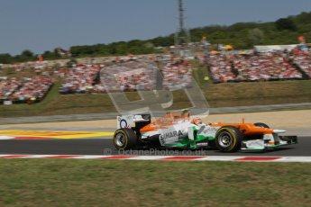 © 2012 Octane Photographic Ltd. Hungarian GP Hungaroring - Sunday 29th July 2012 - F1 Race. Force India VJM05 - Nico Hulkenberg. Digital Ref :
