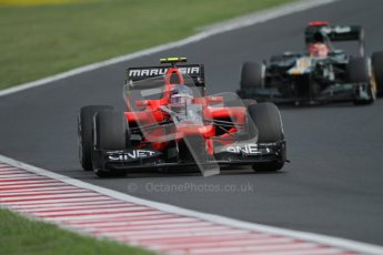 © 2012 Octane Photographic Ltd. Hungarian GP Hungaroring - Sunday 29th July 2012 - F1 Race. Marussia MR01 - Charles Pic and . Digital Ref :