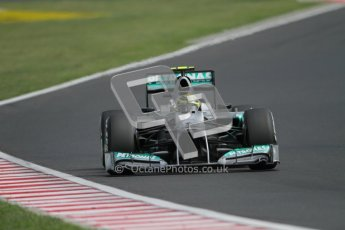 © 2012 Octane Photographic Ltd. Hungarian GP Hungaroring - Sunday 29th July 2012 - F1 Race. Mercedes W03 - Nico Rosberg. Digital Ref :
