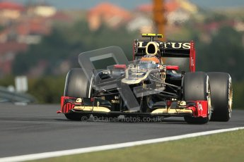 © 2012 Octane Photographic Ltd. Hungarian GP Hungaroring - Friday 27th July 2012 - F1 Practice 1. Lotus E20 - Romain Grosjean. Digital Ref : 0425lw1d4439