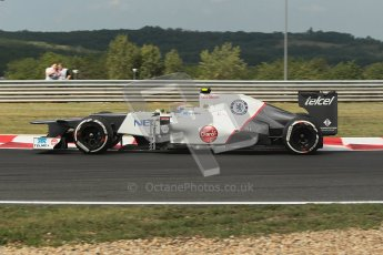 © 2012 Octane Photographic Ltd. Hungarian GP Hungaroring - Friday 27th July 2012 - F1 Practice 1. Sauber C31 - Sergio Perez. Digital Ref : 0425lw1d4709