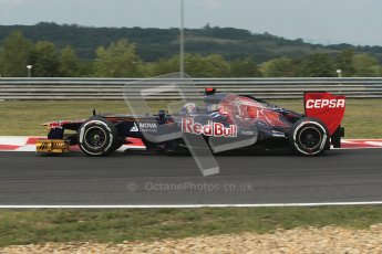 © 2012 Octane Photographic Ltd. Hungarian GP Hungaroring - Friday 27th July 2012 - F1 Practice 1. Toro Rosso STR7 - Daniel Ricciardo. Digital Ref : 0425lw1d4732