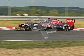 © 2012 Octane Photographic Ltd. Hungarian GP Hungaroring - Friday 27th July 2012 - F1 Practice 1. Toro Rosso STR7 - Daniel Ricciardo. Digital Ref : 0425lw1d4795
