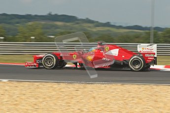 © 2012 Octane Photographic Ltd. Hungarian GP Hungaroring - Friday 27th July 2012 - F1 Practice 1. Ferrari F2012 - Fernando Alonso. Digital Ref :