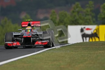 © 2012 Octane Photographic Ltd. Hungarian GP Hungaroring - Friday 27th July 2012 - F1 Practice 1. McLaren MP4/27 - Lewis Hamilton. Digital Ref : 0425lw7d9572