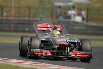 © 2012 Octane Photographic Ltd. Hungarian GP Hungaroring - Saturday 28th July 2012 - F1 Practice 3. McLaren MP4/27 - Lewis Hamilton. Digital Ref : 0429lw1d6743